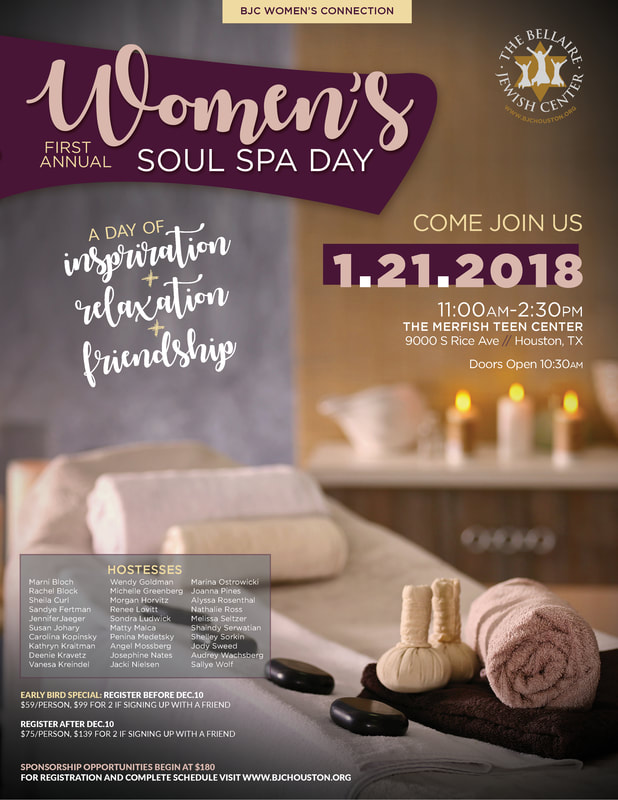 Women 39 s spa day the bellaire jewish center for 3 day spa